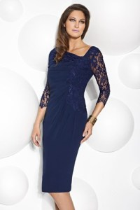 Wedding Guest Dresses For Over 50   Women S Formal Wear   UCenter Dress Knee Length Lace Scoop Neck 3 4 Sleeve Jersey Mother Of The Bride Dress