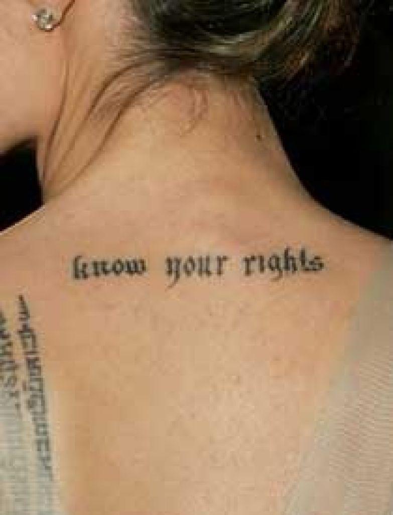12 татуировок анджелины джоли о значениях которых вы и не