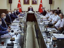İçişleri Bakanı Soylu'nun başkanlık ettiği Mersin'deki güvenlik toplantısı bitti
