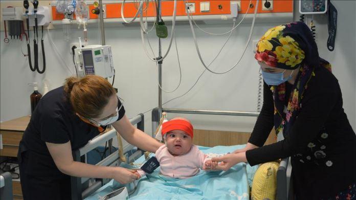 8 aylık Reyyan bebek ilik nakliyle sağlığına kavuştu