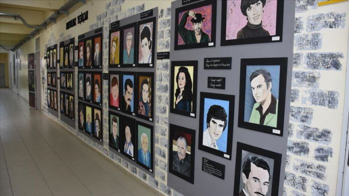 Liseliler Yeşilçam'ın unutulmaz isimlerinin portresini yaptı