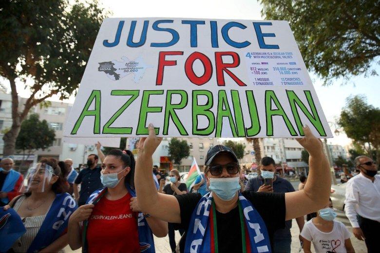 1602783815 355 israildeki azerbaycanli yahudiler ermenistanin saldirilarini protesto etti