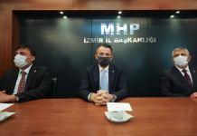 Tarım ve Orman Bakanı Bekir Pakdemirli MHP İzmir İl Başkanlığını ziyaret etti