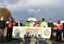 İHH gönüllüsü yetimlere farkındalık için 2 bin 920 kilometre pedal çevirdi