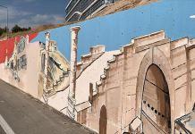 Adıyaman'ın tarihi yerlerini duvarlara resmederek kente güzellik katıyor