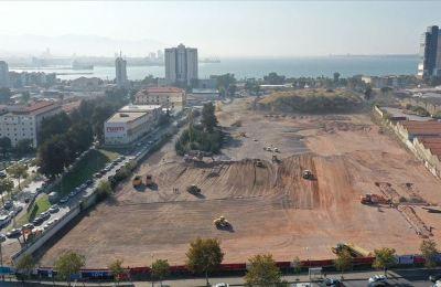 İzmir'de bin konteynerlik geçici barınma merkezinde çalışmalar devam ediyor