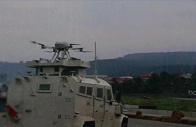 Silahlı drone Songar, askeri kara aracına entegre edildi