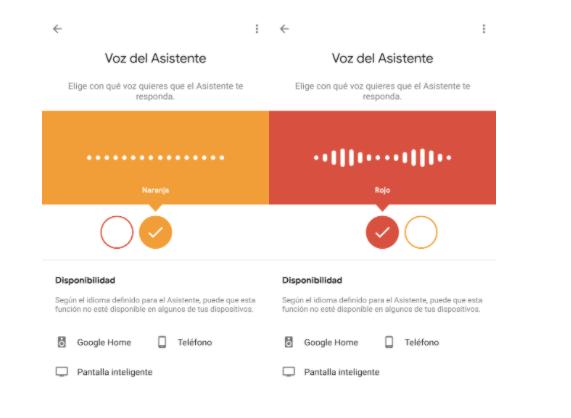 Voces Latinoamérica asistente virtual de Google