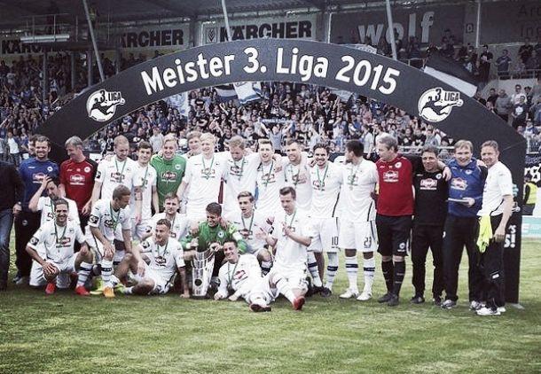Bielefeld é campeão da 3.Liga e sobe junto ao Duisburg; Holstein Kiel jogará playoff