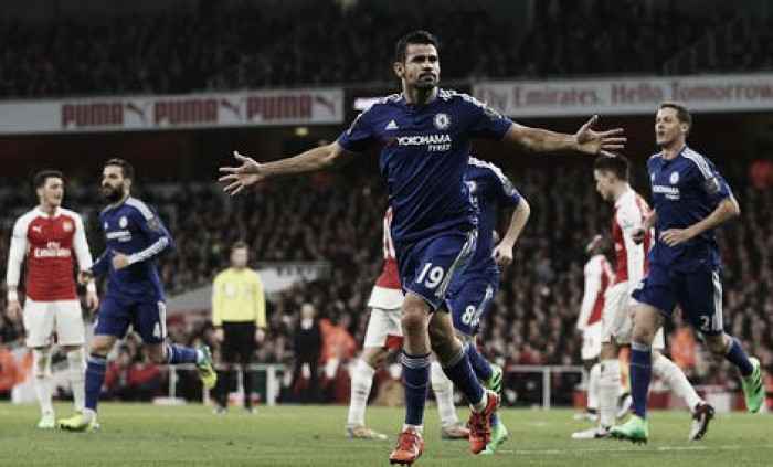 Arsenal 0-1 Chelsea: Costa sinks Gunners after Mertesacker's costly dismissal