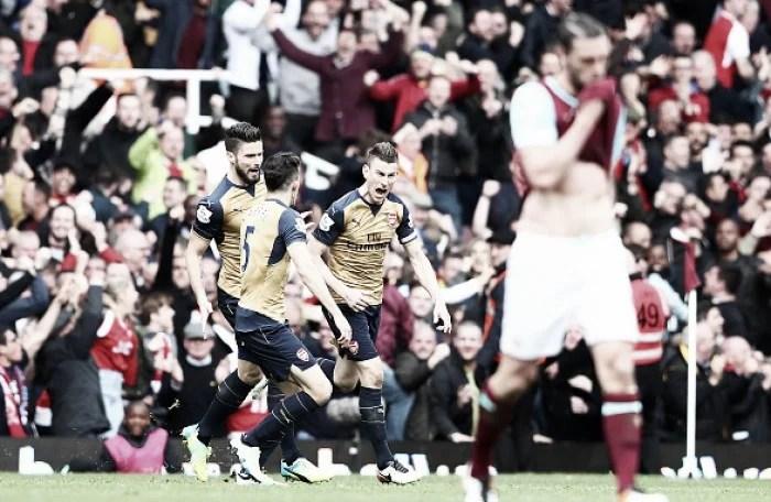 West Ham United 3-3 Arsenal: Koscielny saves Gunners' blushes after six-goal drama