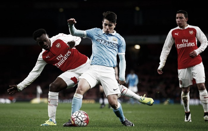 U18's: Arsenal (3) 2-2 (4) Manchester City - Willock and Malen's goals not enough to seal final berth