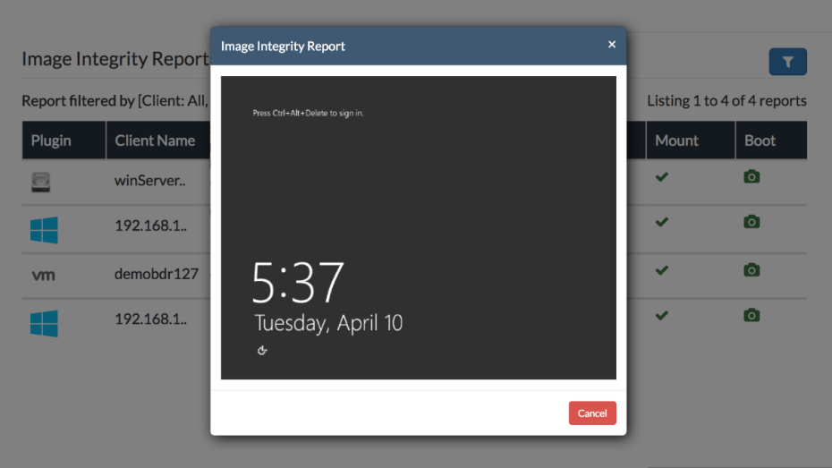 Backup Integrity Check