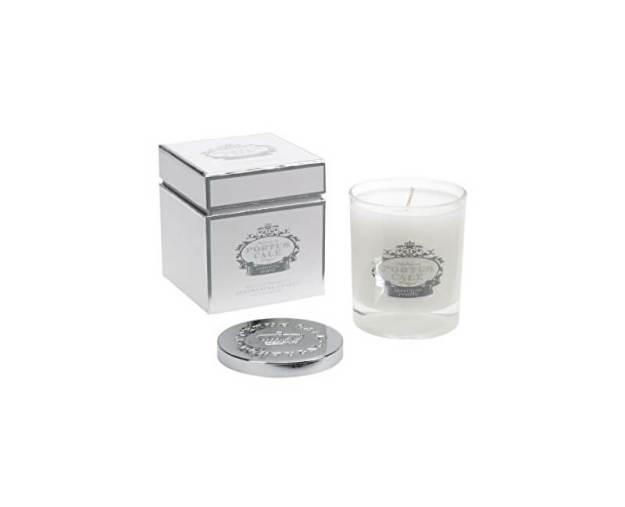 Castelbel Luxusní svíčka ve skle s kovovým víčkem White & Silver 228 g (kCAS0068) od www.kosmetika.cz
