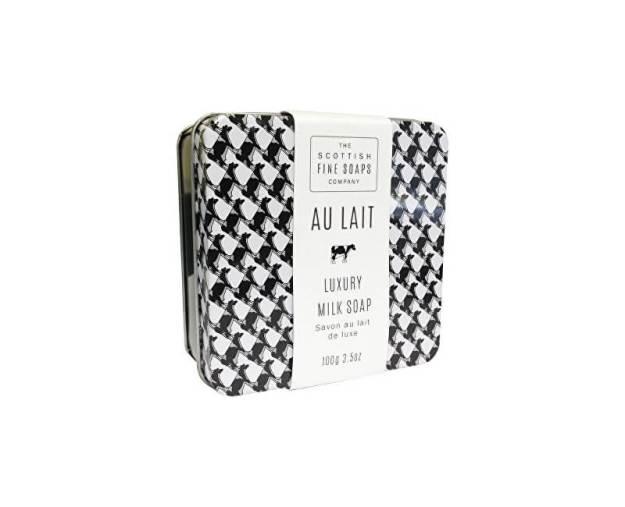 Scottish Fine Soaps Tuhé mýdlo v plechové krabičce Au Lait 100 g (kSCO0055) od www.kosmetika.cz