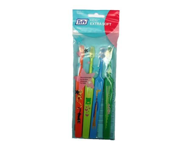 TePe Extra jemný dětský zubní kartáček Kids ZOO (Extra Soft) 4 ks (kTP039) od www.kosmetika.cz