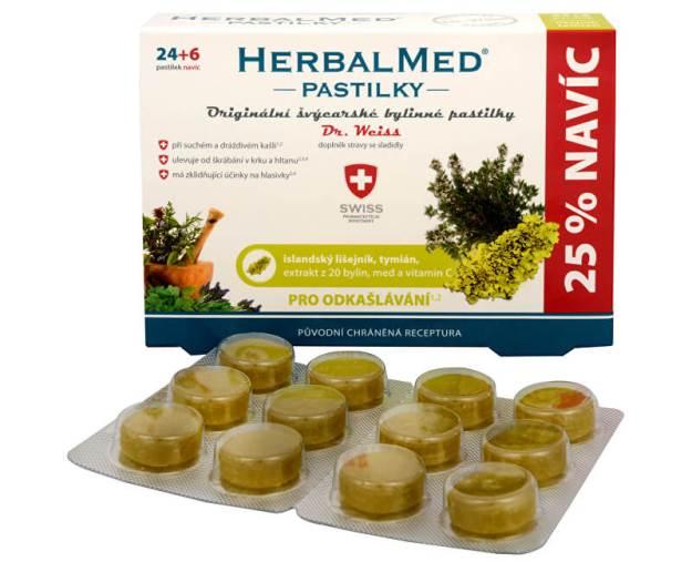 HerbalMed pastilky Dr. Weiss pro odkašlávání 24 pastilek + 6 pastilek ZDARMA (z3056) od www.prozdravi.cz