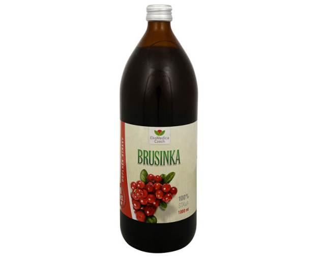 EkoMedica Czech Brusinka - 100% šťáva z brusinky 1000 ml (z44080) od www.kosmetika.cz