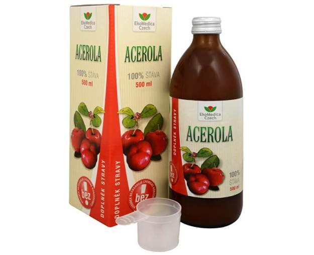 EkoMedica Czech Acerola - 100% šťáva z aceroly 500 ml (z49990) od www.kosmetika.cz