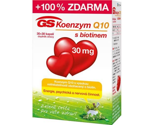 GS Koenzym Q10 30 mg 30 kapslí + 30 kapslí (z50449) od www.prozdravi.cz
