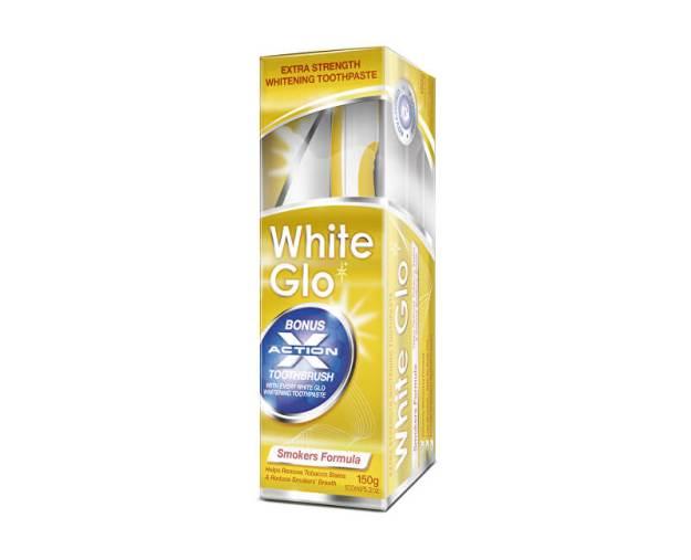 White Glo Smokers zubní pasta pro kuřáky 150 g +  kartáček na zuby a mezizubní kartáčky (z53944) od www.kosmetika.cz
