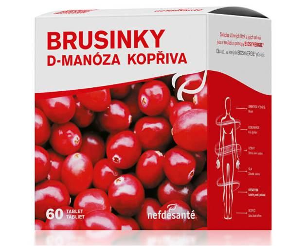 Brusinky D-Manóza Kopřiva 60 tbl. (z54628) od www.prozdravi.cz