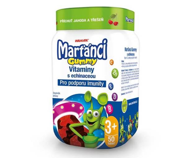 Marťánci Gummy vitamíny s echinaceou příchuť jahoda a třešeň 50 ks (z55709) od www.prozdravi.cz
