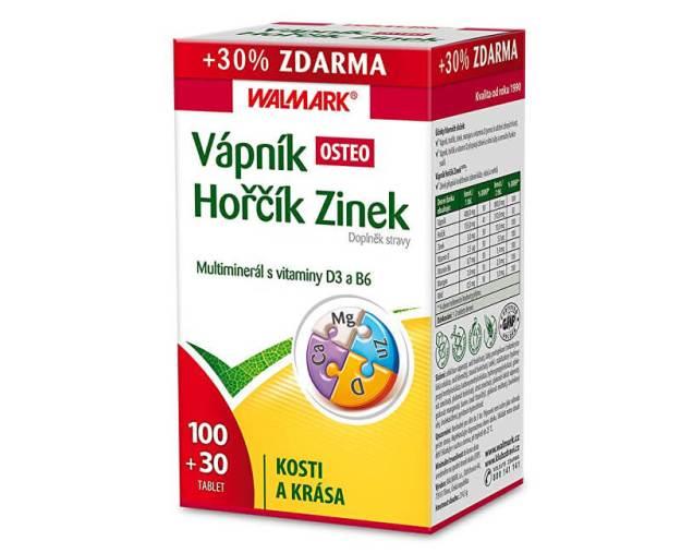 Vápník Hořčík Zinek OSTEO 100 tbl. + 30 tbl. ZDARMA (z55760) od www.prozdravi.cz