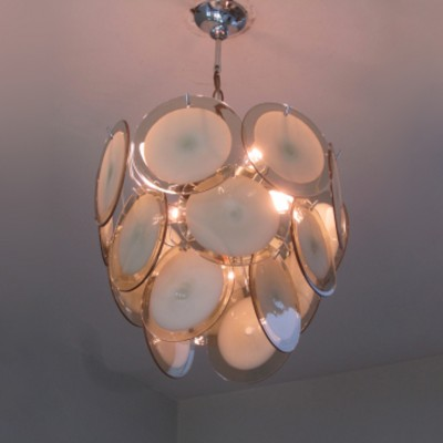 Vistosi Chandelier Hanging Lamp By Gino For 1960s