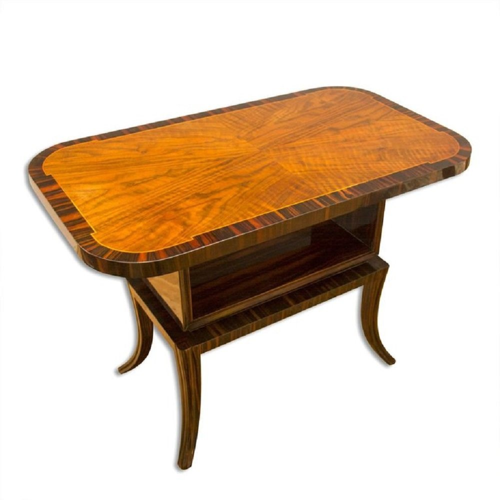 macassar ebony walnut coffee table 1930s