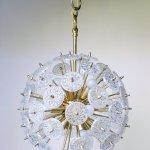 Mid Century Crystal Sputnik Chandelier By Val Saint Lambert 1960s 144597