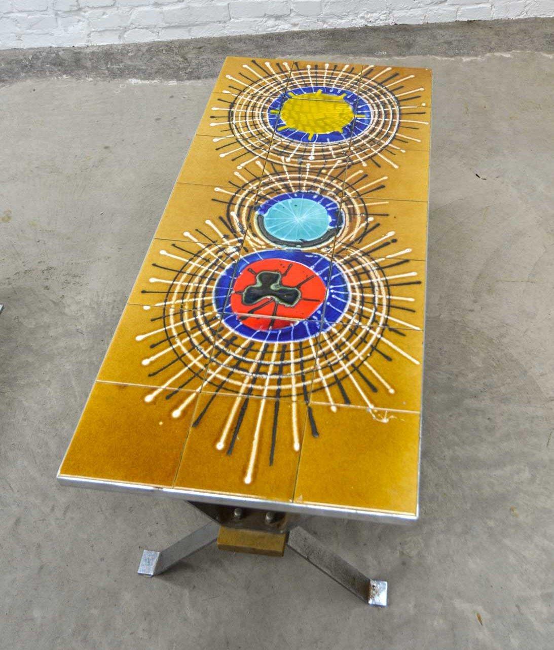 vintage ceramic tiles coffee table