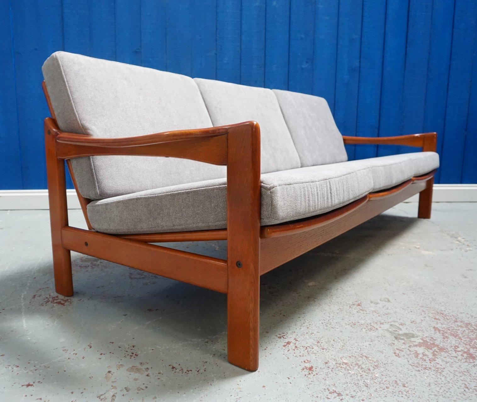 Mid Century Modern Three Seater Danish Sofa 1960 S