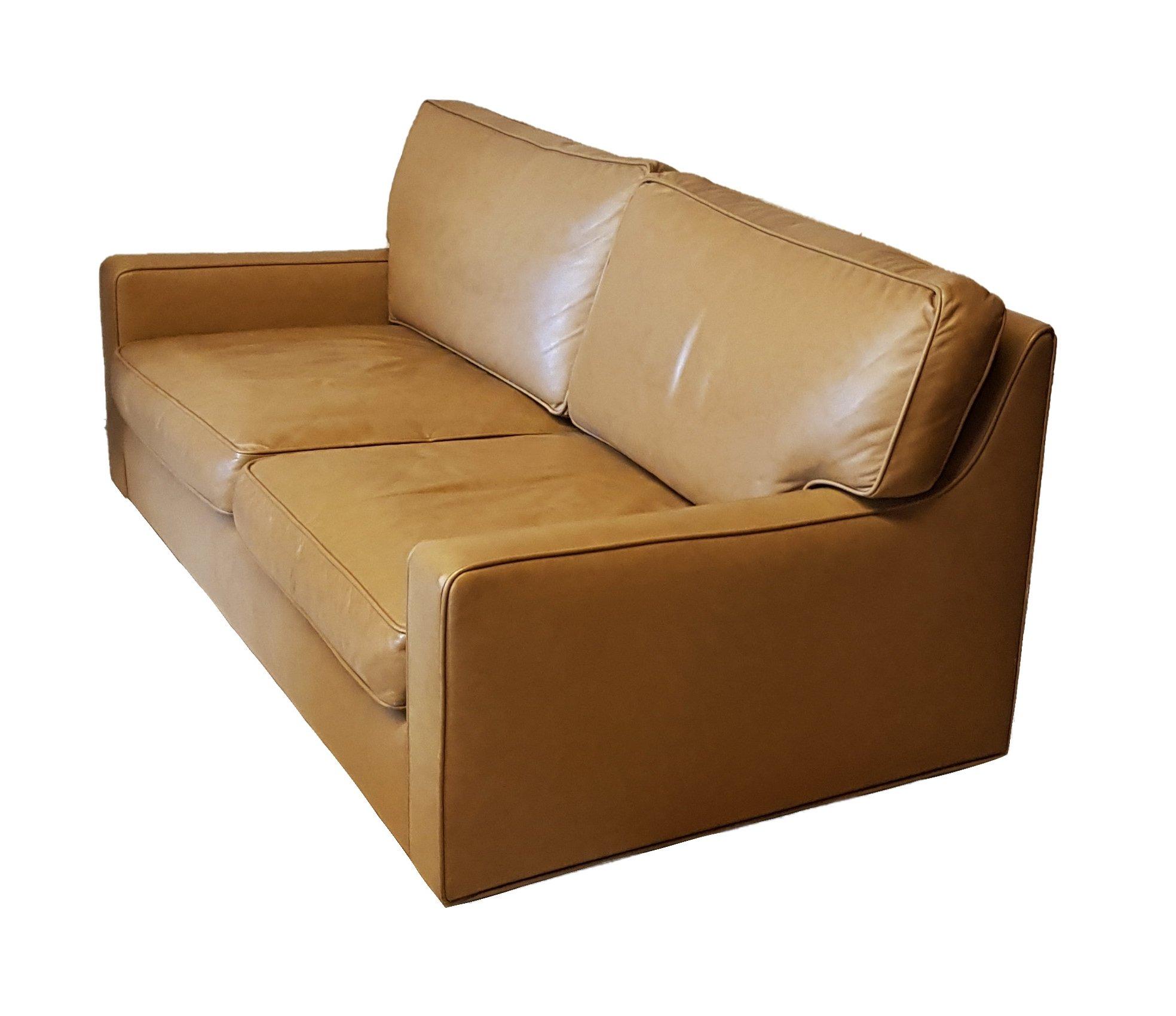 Hans Kaufeld 2 Seater Leather Sofa 104046