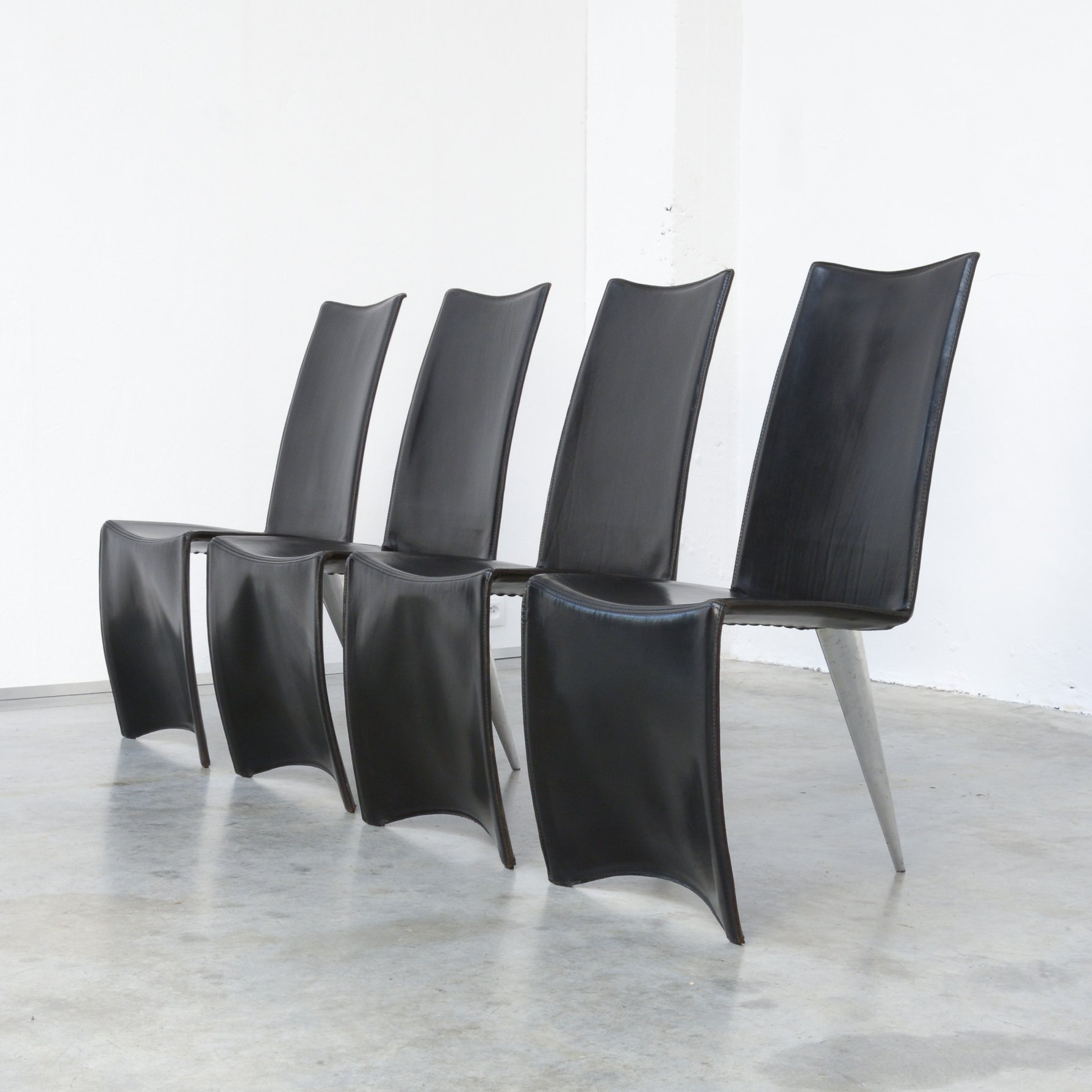 Set Of 4 Ed Archer Chairs By Philippe Starck For Aleph 115724
