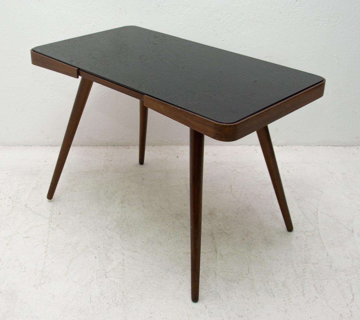 mid century opaxite glass coffee table czechoslovakia 1960s