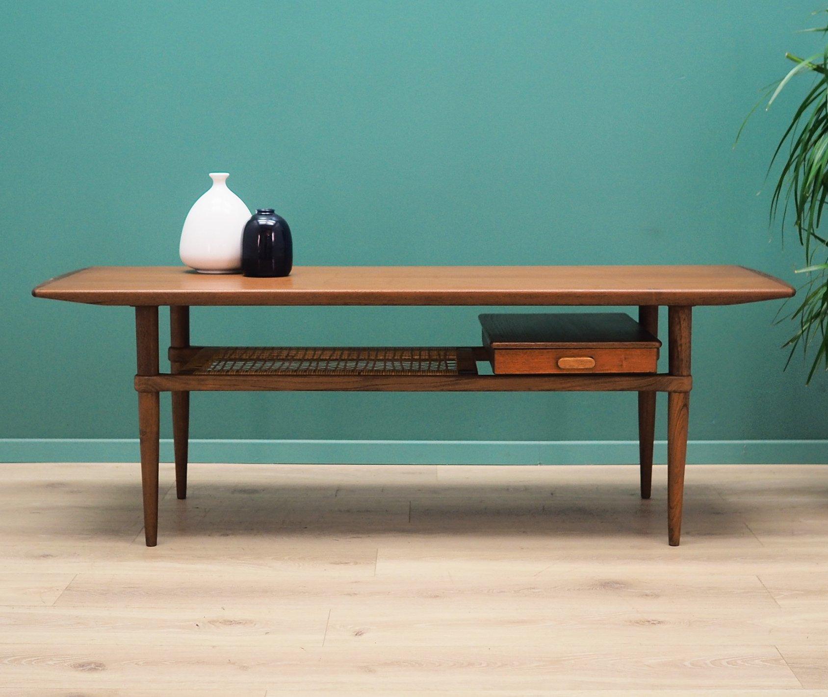 danish design coffee table in teak