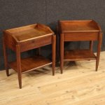 Pair Of 20th Century Wood Italian Design Bedside Tables 1960 139652