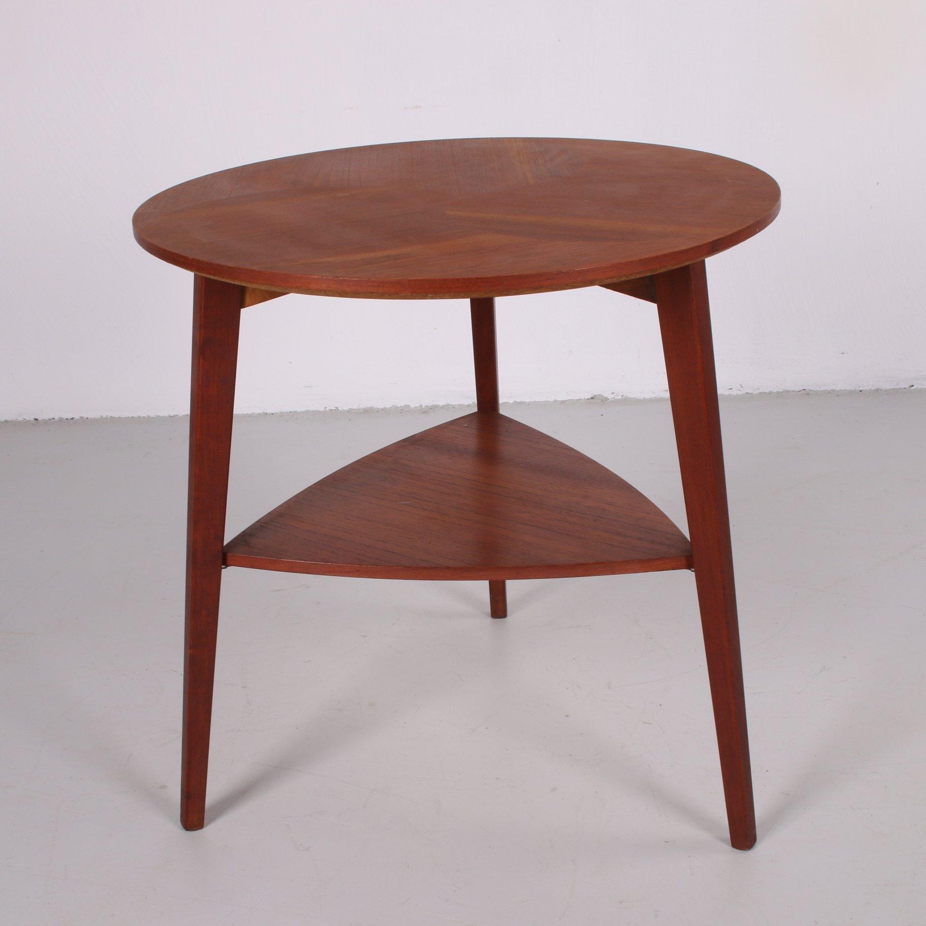 midcentury teak end table by holger georg jensen for kubus circa 1960