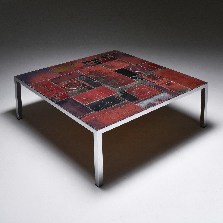 pia manu ceramic tile coffee table 1960s