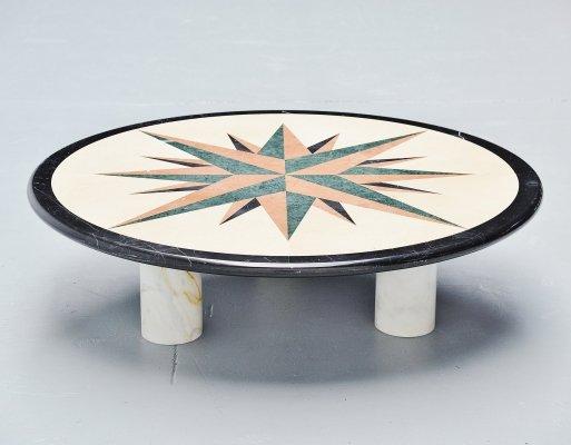italian marble teardrop coffee table