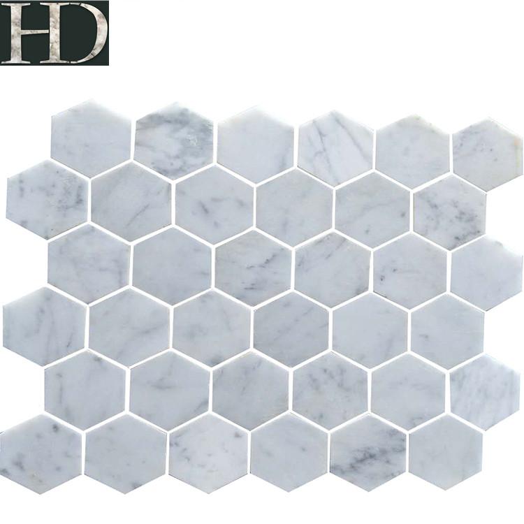 supply cararra white marble hexagon