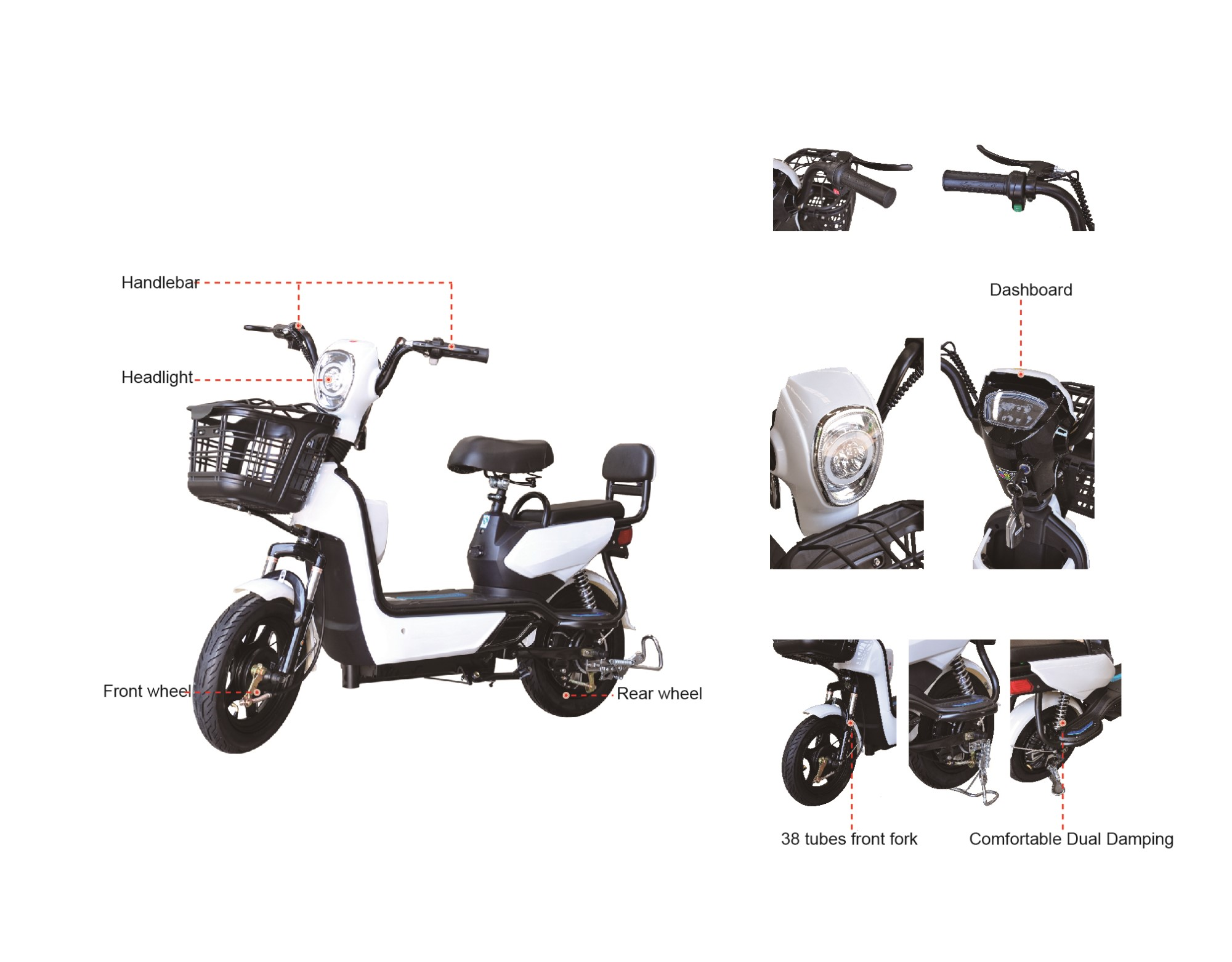 High Quality Battery Operated Electric Scooter City Bike