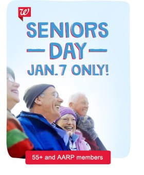 Seniors Day - January 7, Only! 55+ and AARP members