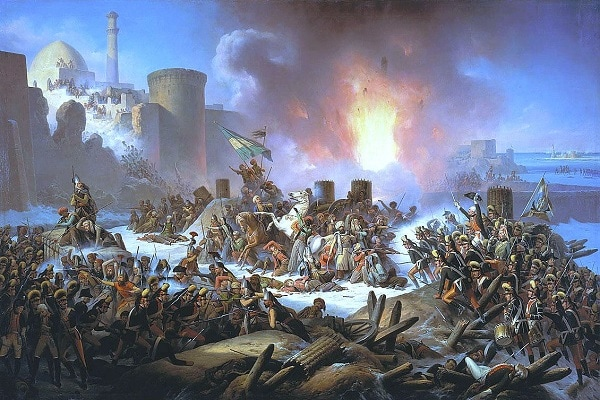 Russian and Ottoman forces battle in 1788 over a port on the Black Sea. (Wikimedia Commons)