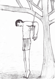 A drawing provided to the U.N. by an Eritrean torture survivor.