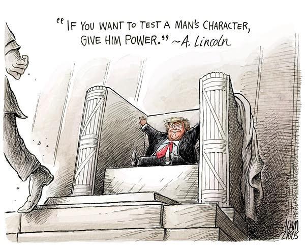 by Adam Zyglis / Buffalo News (CagleCartoons.com) 2017