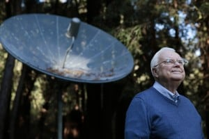 Dr. Frank Drake, the founder of SETI (Search for Extraterrestrial Intelligence), poses for a portrait at his home in Aptos, California, Friday, February 27, 2015. Dr. Drake also created the Arecibo Message - a simple binary encoded message broadcast into space by the Arecibo radio telescope in Puerto Rico in 1974. The message encodes several things: the numbers 1 to 10, the basic chemistry of life on Earth, the double helix structure of DNA, Earth's population, a graphic of the Solar System, a human figure, and a graphic of the Arecibo radio telescope and it's dish' dimensions. (Photo by Ramin Rahimian for The Washington Post)