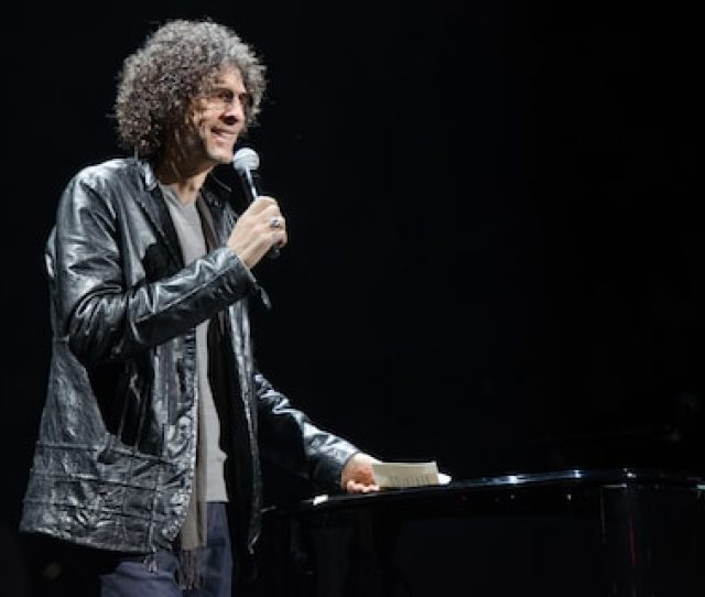 Howard Stern At A Madison Square Garden Concert In 2014 Where He Introduced Billy Joel The Kind Of Celebrity He Once Mocked But Now Charms In His