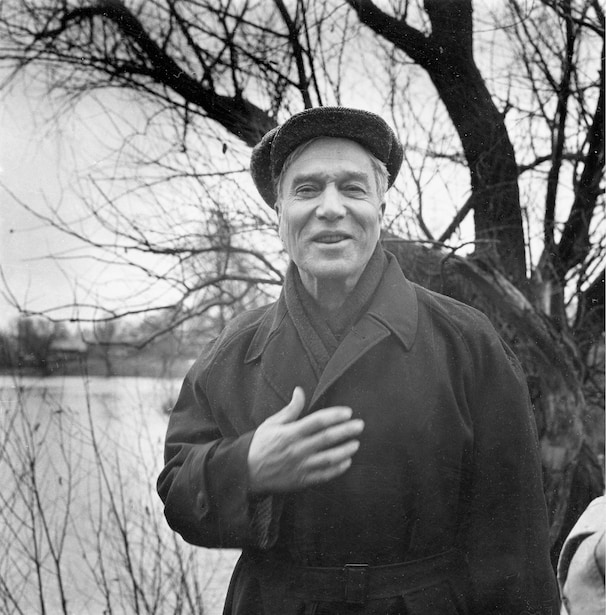 Soviet writer and poet Boris Pasternak near his home in the countryside outside Moscow on Oct. 23, 1958.